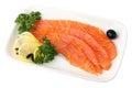 Sliced ??Salmon Stock Image