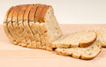 Sliced Seeded Brown Bread Loaf Royalty Free Stock Photo
