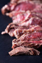 Sliced sirloin steak Royalty Free Stock Image