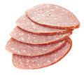 Sliced smoked sausage Royalty Free Stock Images