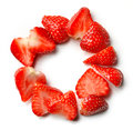 Sliced strawberry circle Royalty Free Stock Photo