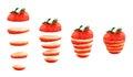 Sliced strawberry isolated Royalty Free Stock Photo