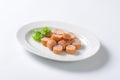 Sliced Vienna sausage Royalty Free Stock Photo