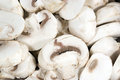 Sliced White Mushrooms Stock Images