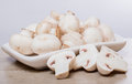 Sliced White Mushrooms Royalty Free Stock Photo