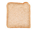 Sliced wholemeal bread isolated on white background Stock Images