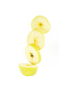 Sliced yellow apple Royalty Free Stock Photo