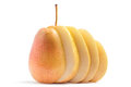 Sliced Yellow Pear Royalty Free Stock Photo