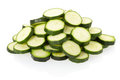 Sliced zucchini pile Royalty Free Stock Images