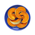 Slices Of Baked Pumpkin - Isol...