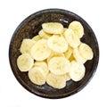 Slices banana Royalty Free Stock Photo