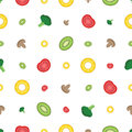 Slices of colorful vegetable. Seamless pattern