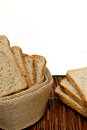 Slices of finest organic bread Stock Photography