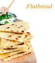 Slices of flatbread on white background Stock Photos