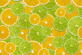 Slices of fresh lime and lemon seamless pattern Royalty Free Stock Photo