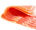 Slices of jamon Stock Images