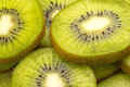Slices of kiwi fruit close up fresh Royalty Free Stock Photos