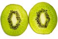 Slices of kiwi fruit on white background Royalty Free Stock Photography