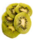 Slices of kiwi fruits Royalty Free Stock Images