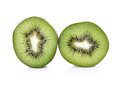 Slices of kiwi on white background Stock Photography