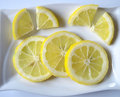 Slices of lemon Stock Photo