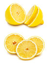 Slices of lemon isolated on white background Royalty Free Stock Image