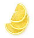 Slices of lemon over white background Stock Image