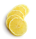 Slices of lemon on white background isolated Stock Photography