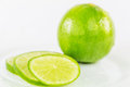 Slices of lime fruit v thin Royalty Free Stock Photo