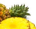 Slices of pineapple Stock Photo
