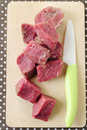 Slices of raw fresh beef meat Stock Image