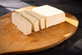 Slices of raw tofu Royalty Free Stock Photo