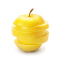 Slices of ripe apple Royalty Free Stock Photo