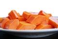 Slices of ripe sweet papaya Royalty Free Stock Photo