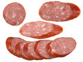 Slices of sausage Royalty Free Stock Photos