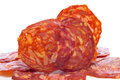Slices of spanish chorizo Royalty Free Stock Image