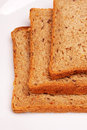 Slices of toast bread Royalty Free Stock Photo