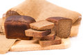 Slices of wholemeal bread over rustic background Stock Image