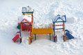 Slide ander the snow Royalty Free Stock Photo