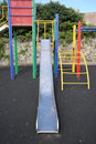 A slide and a climbing frame. Royalty Free Stock Images