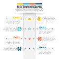 Slide down infographic vector illustration of design element Royalty Free Stock Photography