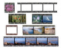 Slide film frames Royalty Free Stock Photo