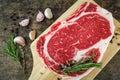 Slide rib eye beef