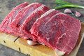 Slide top round beef