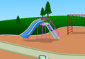 Slider playground illustration of done by software Royalty Free Stock Photos