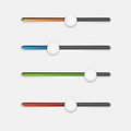 Sliders on white slider controls with colored bars a patterned background Stock Photography