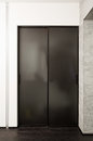 Sliding door wardrobe Stock Image