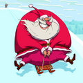 Sliding Santa Claus Royalty Free Stock Photography