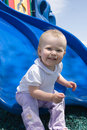 Sliding toddler Royalty Free Stock Photography