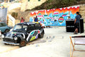Sliema street art festival malta june artist painting at the beach during the on june in malta Stock Images